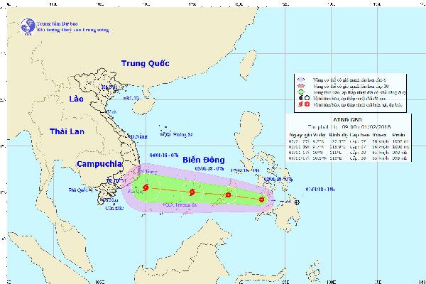 Chủ động ứng phó áp thấp nhiệt đới gần biển Đông