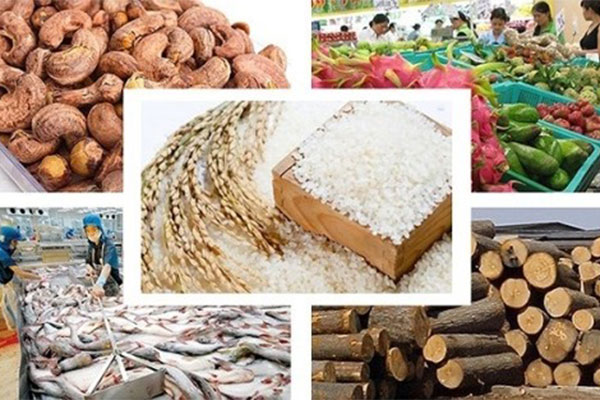 Vietnam: Total export value of agricultural, forest and fishery products