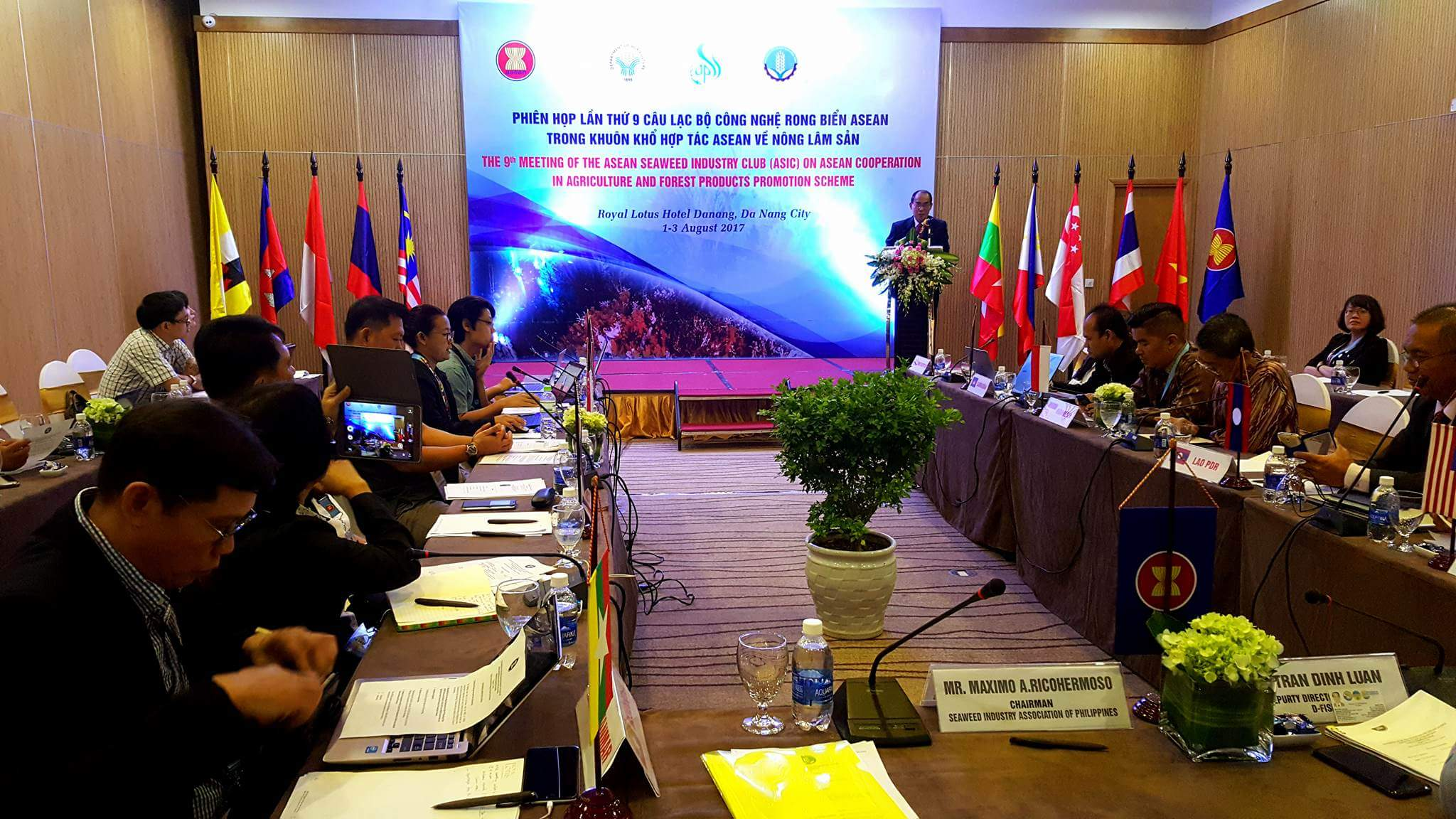The 9th Meeting of the ASEAN Seaweed Industry Club (ASIC) on ASEAN Cooperation in Agriculture and Forestry product promotion scheme